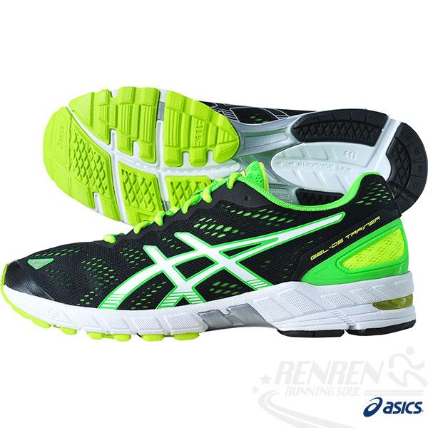 ASICS亞瑟士 路跑鞋GEL-DS TRAINER 19(黑*螢光綠) 低足弓專用