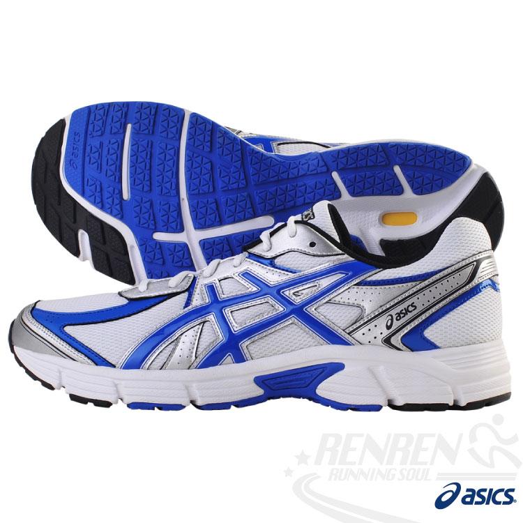 ASICS亞瑟士 健康慢跑鞋(藍) 4E寬楦2014新款 ASIA ROAD JOG T41XQ-0142