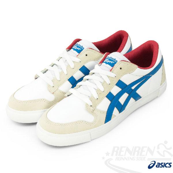 ASICS 亞瑟士Onitsuka Tiger 休閒鞋(白藍紅24cm) 低筒板鞋