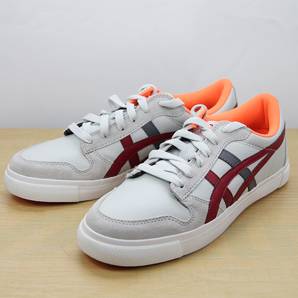 ASICS 亞瑟士Onitsuka Tiger 休閒鞋(灰紅25/27.5) 低筒板鞋