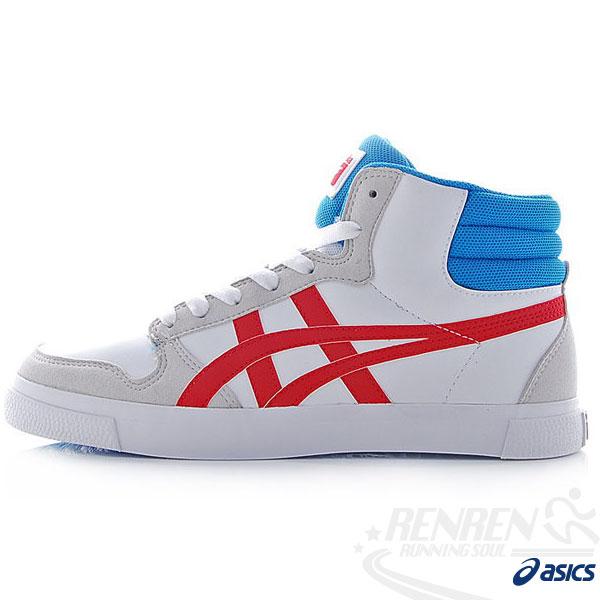 ASICS 亞瑟士Onitsuka Tiger 運動休閒鞋A-SIST MT 高筒休閒鞋(白灰紅藍 27.5/29)