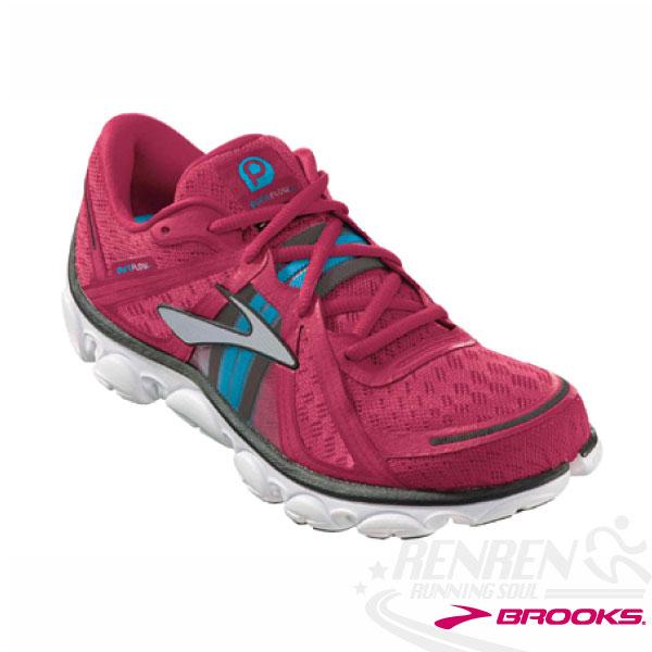 Brooks 女慢跑鞋 Pure Flow輕量避震(紫紅) PURE系列全球重點款 限量特惠BK1201011B642