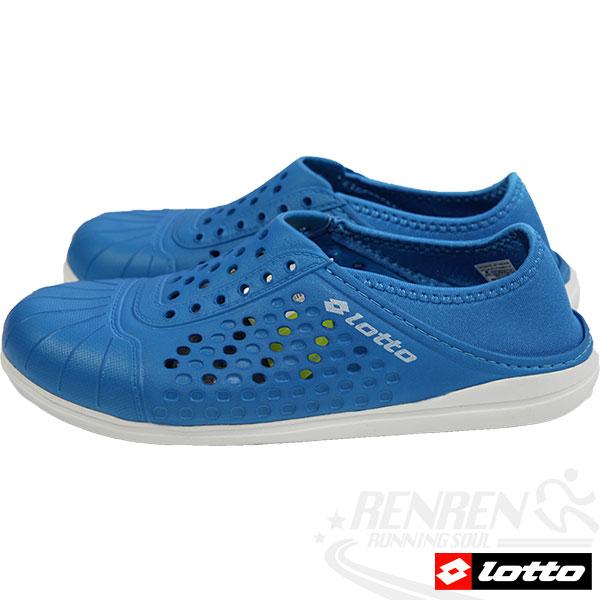 LOTTO 洞感輕便鞋 輕量透氣洞洞鞋(藍)