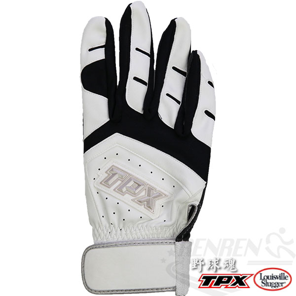 Louisville Slugger TPX X Series特殊壓紋合成皮 打擊手套(白*黑/右手) LB14264R00