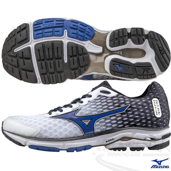 MIZUNO 美津濃 WAVE RIDER 18 男慢跑鞋2015年發燒款(黑*白*藍)
