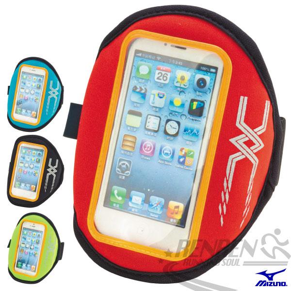 MIZUNO美津濃  手臂套 4吋手機手臂包(焰紅) 輕量 易觸控 2014新款 iPHONE5