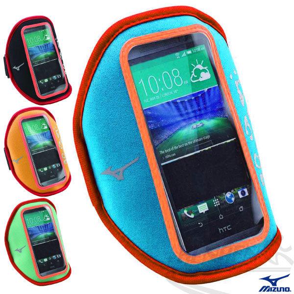 MIZUNO美津濃 手臂套 5吋手機手臂包(藍) 輕量 易觸控 2015新款