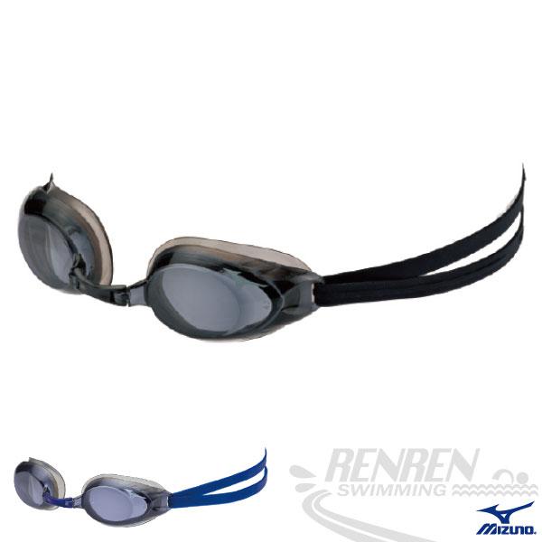 MIZUNO美津濃 近視泳鏡(黑) 防霧 抗UV度數泳鏡