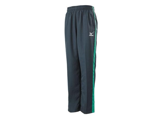 MIZUNO 美津濃 平織運動長褲(灰*綠)。