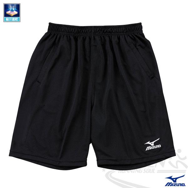 MIZUNO美津濃 長版素色排球褲(黑色) 排汗快乾 男女通用系隊校隊團體訂購 V2TB3A0709