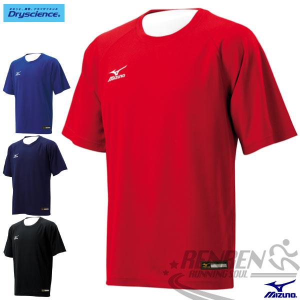 MIZUNO美津濃 棒壘短袖練習服 棒球練習服 (紅) 短袖T恤