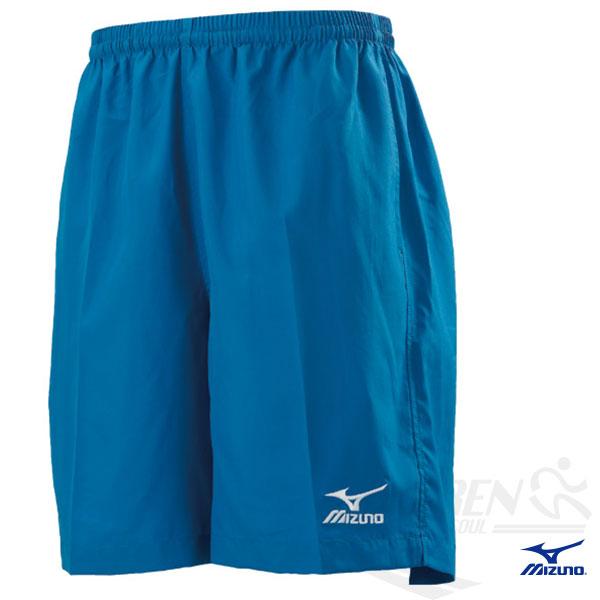 MIZUNO 美津濃 路跑褲(中長型 天空藍XXK/3XL) 背部口袋運動短褲。67DF-15020