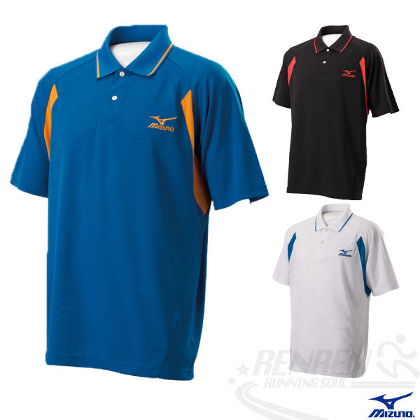 MIZUNO美津濃 短袖POLO衫(藍) 吸汗速乾 休閒運動 高爾夫適用 85HF-35522