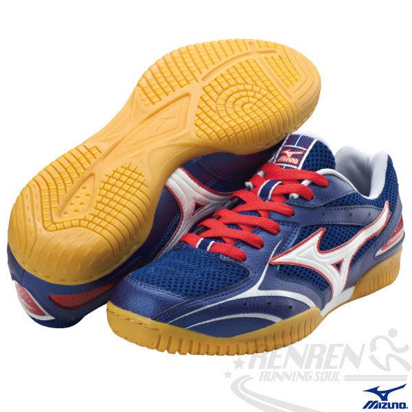 MIZUNO美津濃 桌球鞋(藍*紅) CROSSMATCH RX 2 橡膠大底