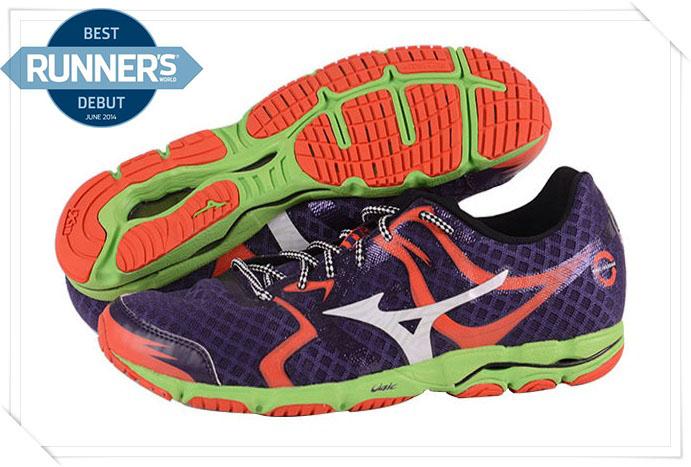 MIZUNO美津濃 男路跑鞋(深灰*橘) WAVE HITOGAM人神路跑鞋 2014新款 J1GA148002