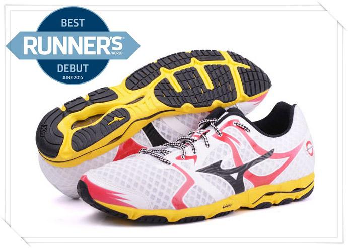 MIZUNO美津濃 男路跑鞋(白*紅) WAVE HITOGAMI人神路跑鞋 2014新款 J1GA148009