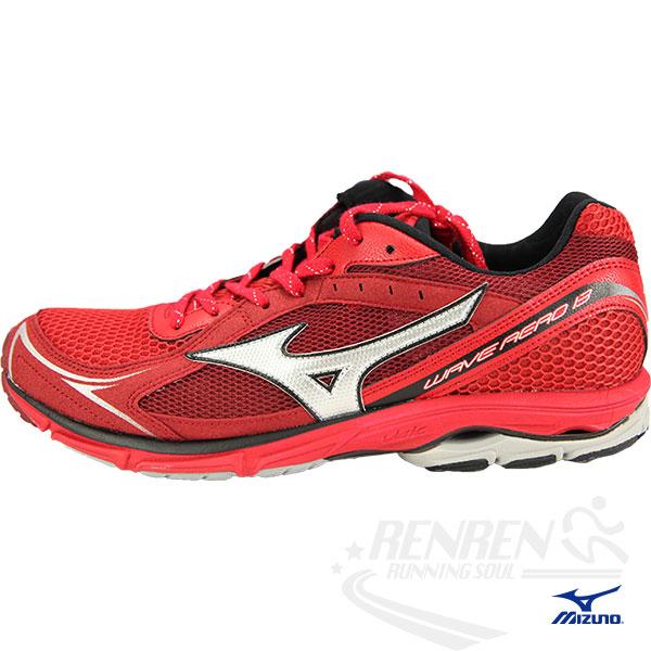 MIZUNO美津濃 WAVE AERO 13 男慢跑鞋(紅*銀白) 2014新款路跑訓練用鞋J1GC145703