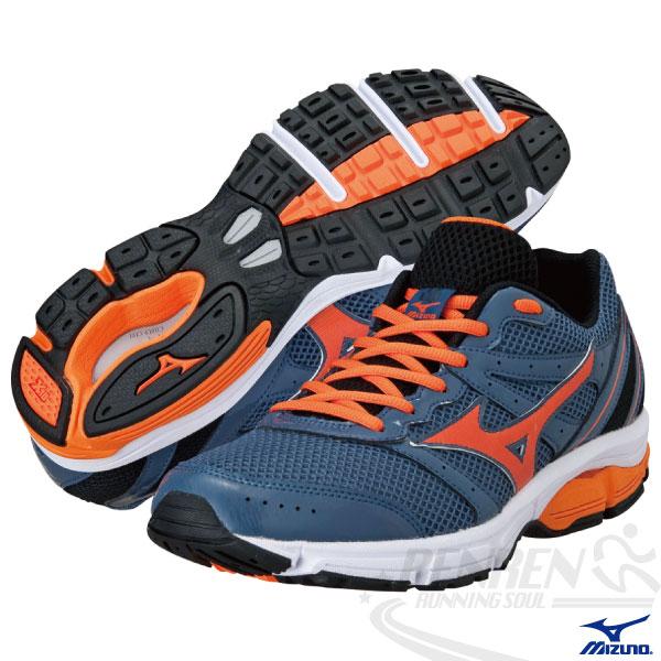 MIZUNO 美津濃男慢跑鞋(灰*橘) WAVE IMPETUS適用中高足弓 2014新品
