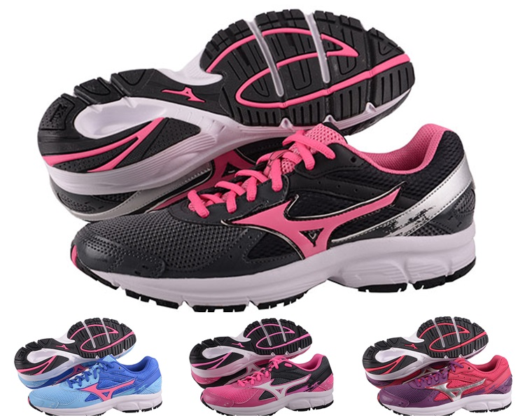 MIZUNO美津濃 EMPOWER 女慢跑鞋(黑*粉紅) 全新輕量一般型鞋款2014Crusader隱藏款