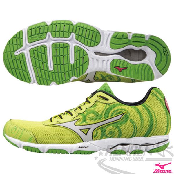 MIZUNO 美津濃 WAVE HITOGAMI 2 女路跑鞋(草綠) 2015新款 慢跑訓練鞋 人神!以快止戰