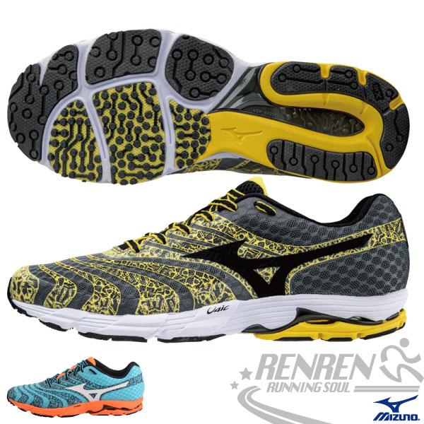 MIZUNO 美津濃 WAVE SAYONARA 2 男慢跑鞋(黃*黑) 2015新款 超輕量 高抓地