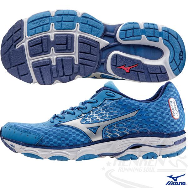 MIZUNO 美津濃 WAVE INSPIRE 11 男慢跑鞋2015年發燒貨(藍*白*銀) 中低足弓