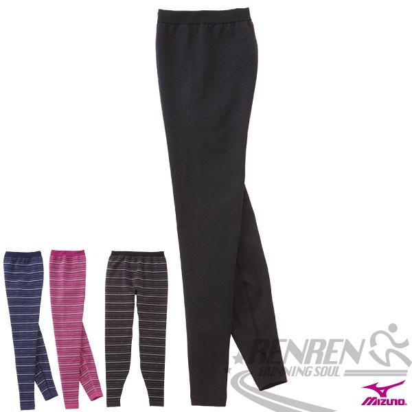 MIZUNO美津濃 日本製女全長緊身褲(黑) 階段壓縮 保暖舒適質感