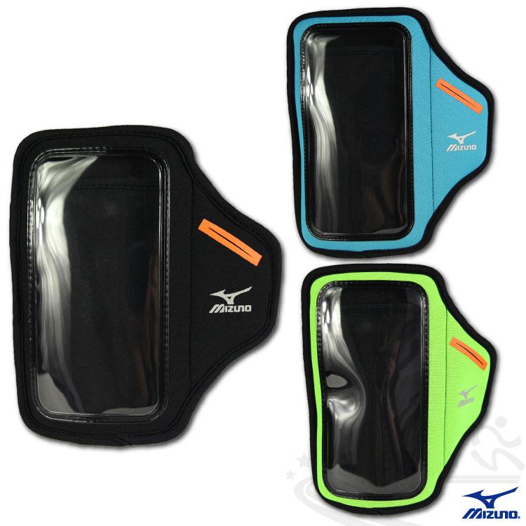 MIZUNO美津濃 2014新款 手臂套 5.5吋手機手臂包(黑/藍/綠) 輕量 易觸控D2TY4530