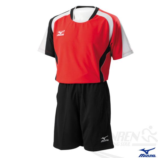 MIZUNO美津濃排球衣(紅/XL~3XL) 快速排汗速乾,抗UV,亦可做為運動用排汗衣。59SV-15162