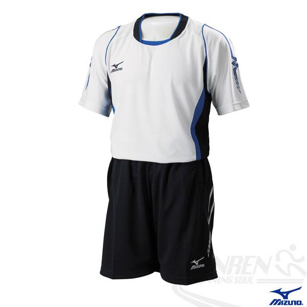 MIZUNO美津濃 排球衣 排球服(白*藍黑/XL/XXL/3XL) 快速排汗速乾 亦可做為運動用排汗衣 比賽練習均可