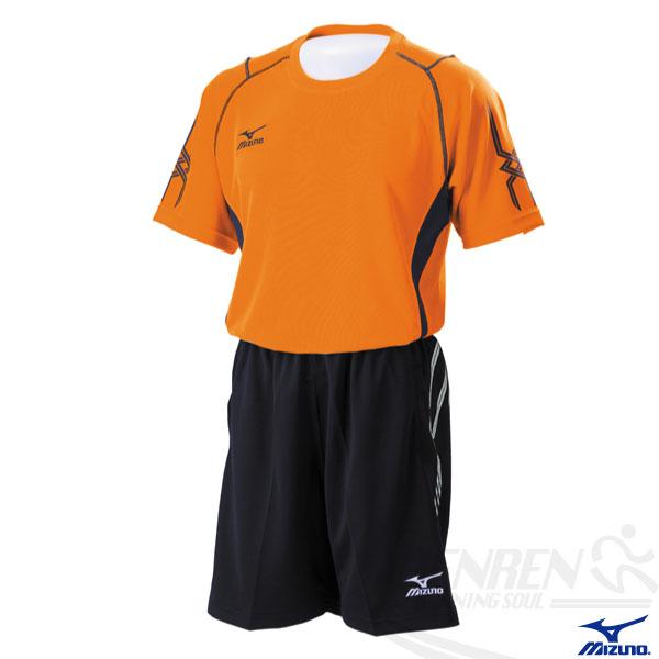 MIZUNO美津濃排球衣(橘/L.XL) 快速排汗速乾,抗UV,亦可做為運動用排汗衣。59SV-15454