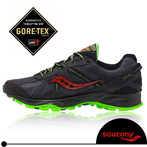 SAUCONY GRID EXCURSION TR 7 GTX 男越野慢跑鞋(黑/綠/紅).Gore-tex防水。SY25171-1免運