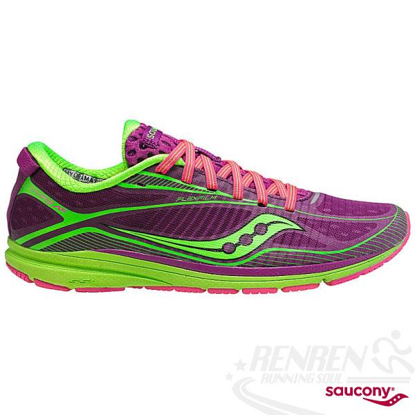 SAUCONY Type A6 女輕量路跑鞋(紫/螢光綠) 三鐵鞋 馬拉松.鐵人三項適用 SY19007-2