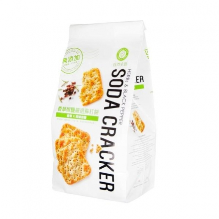 (團購價) 自然主意 香草椒鹽嚴選蘇打餅180g/包 全素 健康隨身包(奶素) X20包
