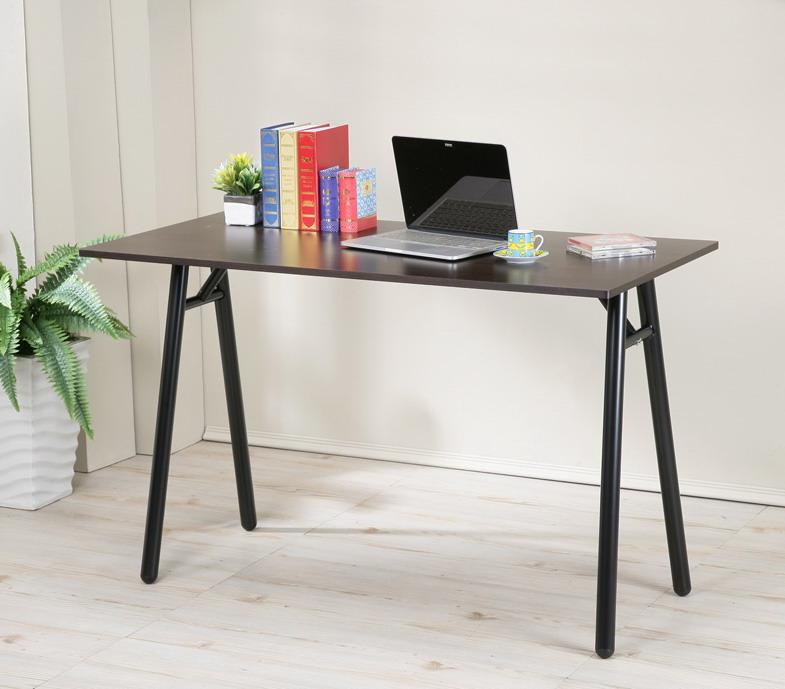 120公分防潑水A型工作桌 電腦桌 書桌 餐桌 【馥葉】【型號DE2240WA】可加購鍵盤架、抽屜、玻璃