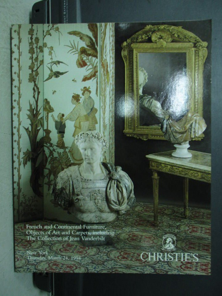 【書寶二手書T4/收藏_YHU】Christie's_French and Contin..._1994/3/24