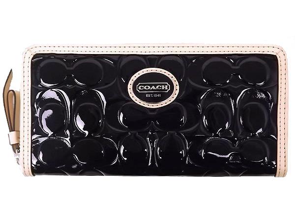 COACH F48164  錢包男包時尚錢夾商務長款錢包手拿包 黑色