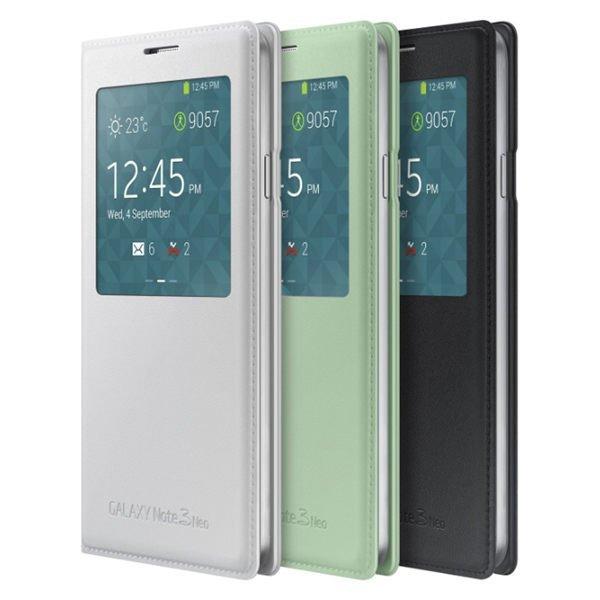 原廠皮套 S View 視窗皮套 Samsung Note 3 NEO N7507 透視感應皮套【馬尼行動通訊】