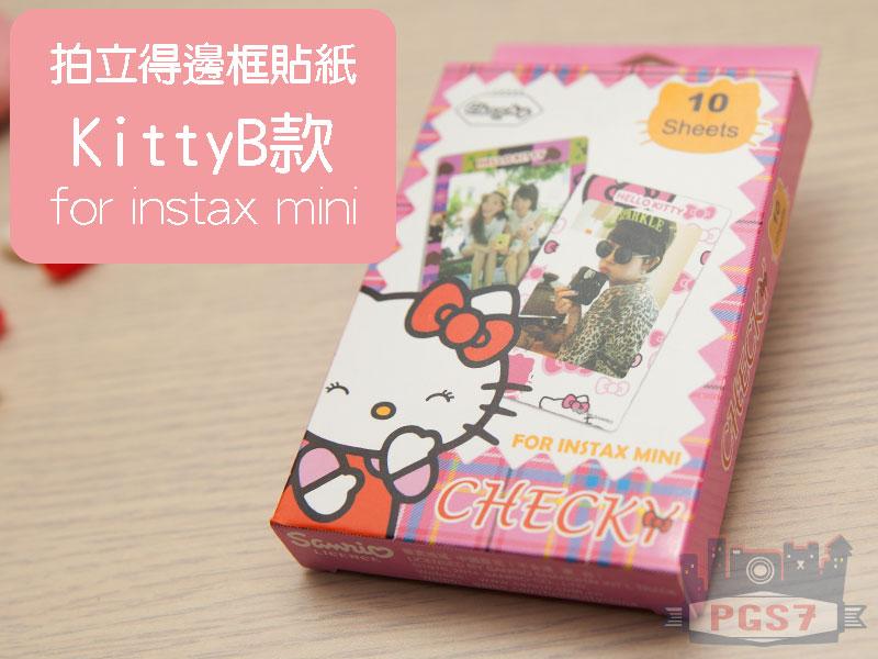 PGS7 富士 拍立得 - 邊框貼紙 KITTY B款 裝飾底片 Mini8 / Mini25 / Mini50S / Mini90 / SP1
