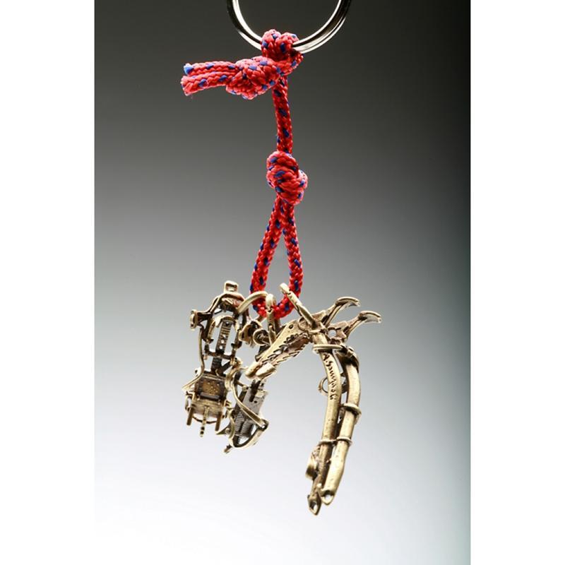 SAC義大利手工飾品 #29 青銅鑰匙圈掛飾 冰爪+技術攀登冰斧 SAC29