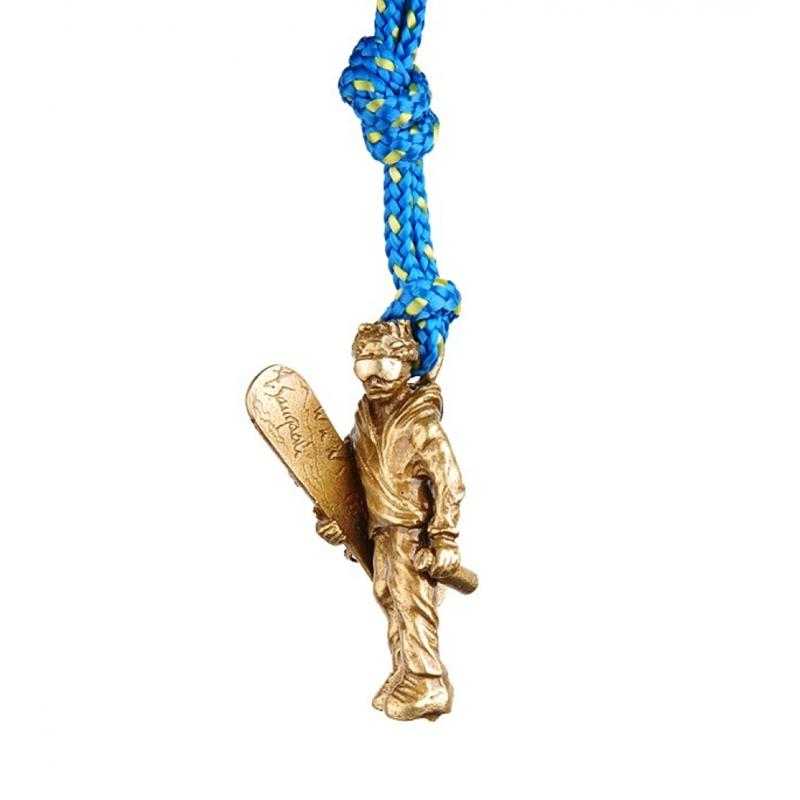 SAC義大利手工飾品 #52 青銅鑰匙圈掛飾 滑雪者 SAC52