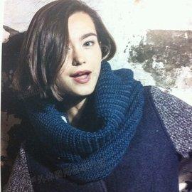 [ Buff ] 圍巾/頸圍/旅遊/滑雪/披肩/素色寬桶羊駝毛保暖圍巾 Gribling 1234-765 深海藍