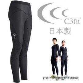 C3fit/機能褲/壓縮褲/緊身褲 Impact 日本製 支撐型慢跑褲/加壓緊身褲 男款 3F12123