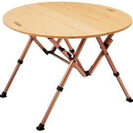 [ Coleman ] 舒適達人休閒圓形竹桌/摺疊竹圓桌/85 CM14231JM000