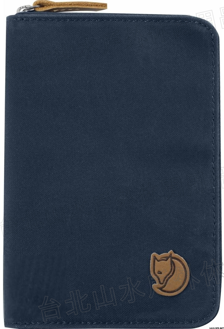 Fjallraven 瑞典北極狐 Passport Wallet 旅遊護照包/復古拉鍊皮夾/錢包 24220-560 海軍藍