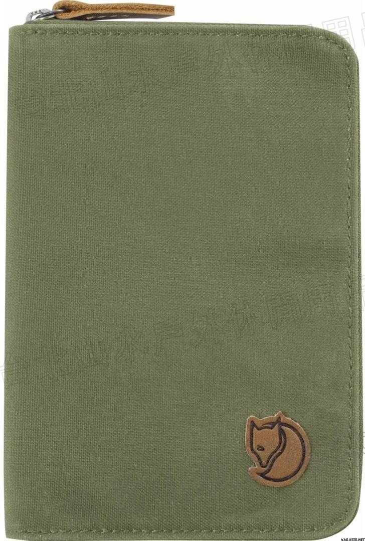 Fjallraven 瑞典北極狐 Passport Wallet 旅遊護照包/復古拉鍊皮夾/錢包 24220-620 綠