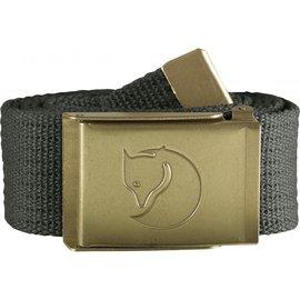 Fjallraven 瑞典北極狐 帆布腰帶/皮帶/軍裝腰帶 Canvas Brass 77297-032 高山灰 黃銅色扣