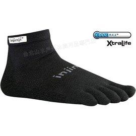 [ Injinji ] RUN 吸濕排汗五指短襪/五指襪/跑步襪 Coolmax 跑步越野系列 OW Mini-crew 黑色
