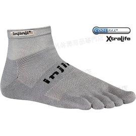 [ Injinji ] RUN 吸濕排汗五指短襪/五指襪/跑步襪 Coolmax 跑步越野系列 OW Mini-crew 灰色