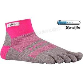 [ Injinji ] RUN 吸濕排汗五指短襪/五指襪/跑步襪 Coolmax 跑步越野系列 OW Mini-crew 粉紅